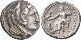 KINGS OF MACEDON. Alexander III 'the Great', 336-323 BC. Tetradrachm (Silver, 26 mm, 17.04 g, 4 h), Amphipolis, struck under Antipater, circa 325-323/...
