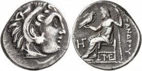 KINGS OF MACEDON. Alexander III 'the Great', 336-323 BC. Drachm (Silver, 18 mm, 4.15 g, 12 h), Lampsakos, struck under Antigonos I Monophthalmos, circ...