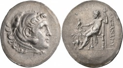 KINGS OF MACEDON. Alexander III 'the Great', 336-323 BC. Tetradrachm (Silver, 38 mm, 16.67 g, 12 h), Temnos, circa 188-170. Head of Herakles to right,...