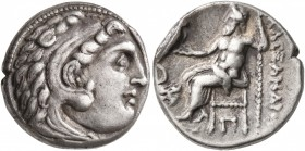 KINGS OF MACEDON. Alexander III 'the Great', 336-323 BC. Drachm (Silver, 16 mm, 4.15 g, 12 h), Kolophon, struck under Antigonos I Monophthalmos, circa...