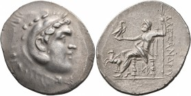 KINGS OF MACEDON. Alexander III 'the Great', 336-323 BC. Tetradrachm (Silver, 34 mm, 16.85 g, 12 h), Alabanda, circa 188-173. Head of Herakles to righ...
