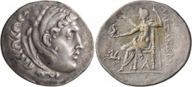 KINGS OF MACEDON. Alexander III 'the Great', 336-323 BC. Tetradrachm (Silver, 34 mm, 16.39 g, 1 h), Alabanda, CY 1 = 169/8. Head of Herakles to right,...