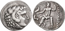 KINGS OF MACEDON. Alexander III 'the Great', 336-323 BC. Tetradrachm (Silver, 32 mm, 16.63 g, 1 h), uncertain mint in western Asia Minor, circa 240-18...