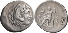 KINGS OF MACEDON. Alexander III 'the Great', 336-323 BC. Tetradrachm (Silver, 33 mm, 16.00 g, 12 h), Aspendos, CY 18 = 195/4. Head of Herakles to righ...