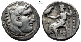 "Kings of Macedon. Lampsakos. Alexander III ""the Great"" 336-323 BC. Struck circa 310-301 B. Drachm AR"