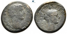 Macedon. Thessalonica. Tiberius and Livia AD 14-37. Bronze Æ