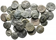 Lot of ca. 35 greek bronze coins / SOLD AS SEEN, NO RETURN!very fine