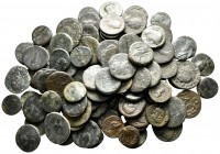 Lot of ca. 100 greek bronze coins / SOLD AS SEEN, NO RETURN!nearly very fine
