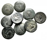 Lot of ca. 9 greek bronze coins / SOLD AS SEEN, NO RETURN!fine