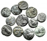 Lot of ca. 12 greek bronze coins / SOLD AS SEEN, NO RETURN!very fine