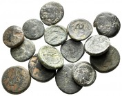 Lot of ca. 15 greek bronze coins / SOLD AS SEEN, NO RETURN!nearly very fine