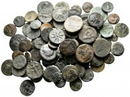 Lot of ca. 90 greek bronze coins / SOLD AS SEEN, NO RETURN!very fine