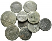 Lot of ca. 10 roman provincial bronze coins / SOLD AS SEEN, NO RETURN!fine