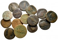 Lot of ca. 15 roman bronze coins / SOLD AS SEEN, NO RETURN!fine