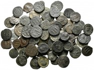 Lot of ca. 80 late roman bronze coins / SOLD AS SEEN, NO RETURN!