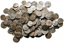 Lot of ca. 140 late roman bronze coins / SOLD AS SEEN, NO RETURN!nearly very fine