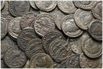 Lot of ca. 50 late roman bronze coins / SOLD AS SEEN, NO RETURN!very fine