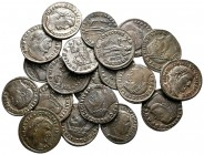 Lot of ca. 20 late roman bronze coins / SOLD AS SEEN, NO RETURN!very fine
