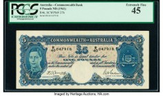 Australia Commonwealth of Australia 5 Pounds ND (1941) Pick 27b PCGS Extremely Fine 45.   HID09801242017  © 2020 Heritage Auctions | All Rights Reserv...