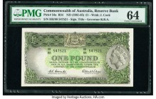 Australia Commonwealth of Australia 1 Pound ND (1961-65) Pick 34a PMG Choice Uncirculated 64.   HID09801242017  © 2020 Heritage Auctions | All Rights ...