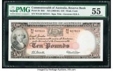 Australia Commonwealth of Australia 10 Pounds ND (1960-65) Pick 36 PMG About Uncirculated 55.   HID09801242017  © 2020 Heritage Auctions | All Rights ...