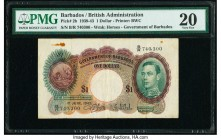 Barbados Government of Barbados 1 Dollar 1.6.1943 Pick 2b PMG Very Fine 20. Rust.  HID09801242017  © 2020 Heritage Auctions | All Rights Reserved