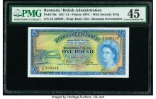 Bermuda Bermuda Government 1 Pound 1.5.1957 Pick 20c PMG Choice Extremely Fine 45.   HID09801242017  © 2020 Heritage Auctions | All Rights Reserved