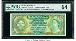British Honduras Government of British Honduras 1 Dollar 1.1.1973 Pick 28c PMG Choice Uncirculated 64.   HID09801242017  © 2020 Heritage Auctions | Al...