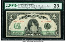 Canada Dominion of Canada $1 17.3.1917 DC-23c PMG Choice Very Fine 35. Tear.  HID09801242017  © 2020 Heritage Auctions | All Rights Reserved