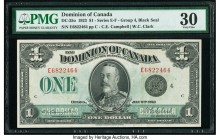 Canada Dominion of Canada $1 2.7.1923 DC-25o PMG Very Fine 30.   HID09801242017  © 2020 Heritage Auctions | All Rights Reserved