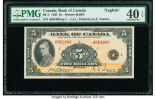 Canada Bank of Canada $5 1935 BC-5 English PMG Extremely Fine 40 EPQ.   HID09801242017  © 2020 Heritage Auctions | All Rights Reserved