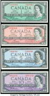 Canada $1, $2; $5; $10 Denomination Set of 4 Examples Extremely Fine-About Uncirculated.   HID09801242017  © 2020 Heritage Auctions | All Rights Reser...