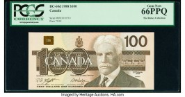 Canada Bank of Canada $100 1988 BC-60d PCGS Gem New 66 PPQ.   HID09801242017  © 2020 Heritage Auctions | All Rights Reserved