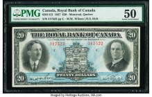 Canada, Montreal PQ- Royal Bank of Canada $20 3.1.1927 Ch. # 630-14-12 PMG About Uncirculated 50.   HID09801242017  © 2020 Heritage Auctions | All Rig...