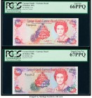 Cayman Islands Currency Board 10 Dollars 1991; 1996 Pick 13b; 18a PCGS Gem New 66 PPQ; Superb Gem New 67 PPQ.   HID09801242017  © 2020 Heritage Auctio...