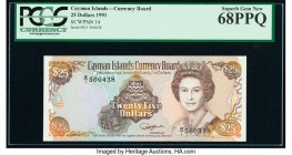 Cayman Islands Currency Board 25 Dollars 1991 Pick 14 PCGS Superb Gem New 68 PPQ.   HID09801242017  © 2020 Heritage Auctions | All Rights Reserved