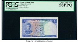 Ceylon Central Bank of Ceylon 1 Rupee 20.1.1951 Pick 47 PCGS Choice About New 58 PPQ.   HID09801242017  © 2020 Heritage Auctions | All Rights Reserved...