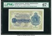 Falkland Islands Government of the Falkland Islands 1 Pound 20.2.1974 Pick 8b PMG Superb Gem Unc 67 EPQ.   HID09801242017  © 2020 Heritage Auctions | ...