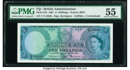 Fiji Government of Fiji 5 Shillings 28.4.1961 Pick 51b PMG About Uncirculated 55.   HID09801242017  © 2020 Heritage Auctions | All Rights Reserved