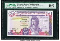 Gibraltar Government of Gibraltar 50 Pounds 27.11.1986 Pick 24 PMG Gem Uncirculated 66 EPQ.   HID09801242017  © 2020 Heritage Auctions | All Rights Re...