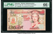 Gibraltar Government of Gibraltar 50 Pounds 1.7.1995 Pick 28 PMG Gem Uncirculated 66 EPQ.   HID09801242017  © 2020 Heritage Auctions | All Rights Rese...