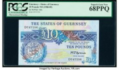 Guernsey States of Guernsey 10 Pounds ND (1980-89) Pick 50b PCGS Superb Gem New 68 PPQ.   HID09801242017  © 2020 Heritage Auctions | All Rights Reserv...