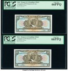 Haiti Banque de la Republique d'Haiti 1 Gourde 1979 Pick 230Aa Two Consecutive Examples PCGS Gem New 66 PPQ.   HID09801242017  © 2020 Heritage Auction...
