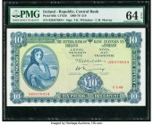 Ireland Central Bank of Ireland 10 Pounds 5.5.1969 Pick 66b PMG Choice Uncirculated 64 EPQ.   HID09801242017  © 2020 Heritage Auctions | All Rights Re...