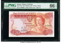 Jersey States of Jersey 20 Pounds ND (1976-88) Pick 14b PMG Gem Uncirculated 66 EPQ.   HID09801242017  © 2020 Heritage Auctions | All Rights Reserved