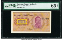 Katanga Banque Nationale du Katanga 10 Francs 15.12.1960 Pick 5a PMG Gem Uncirculated 65 EPQ.   HID09801242017  © 2020 Heritage Auctions | All Rights ...