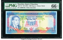 Mauritius Bank of Mauritius 1000 Rupees ND (1991) Pick 41 PMG Gem Uncirculated 66 EPQ.   HID09801242017  © 2020 Heritage Auctions | All Rights Reserve...
