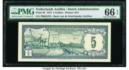 Netherlands Antilles Bank van de Nederlandse Antillen 5 Gulden 1.6.1972 Pick 8b PMG Gem Uncirculated 66 EPQ.   HID09801242017  © 2020 Heritage Auction...