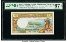 New Caledonia Institut d'Emission d'Outre-Mer 100 Francs ND (1973) Pick 63b PMG Superb Gem Unc 67 EPQ.   HID09801242017  © 2020 Heritage Auctions | Al...