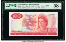 New Zealand Reserve Bank of New Zealand 100 Dollars ND (1967-68) Pick 168a PMG Choice About Unc 58 EPQ.   HID09801242017  © 2020 Heritage Auctions | A...